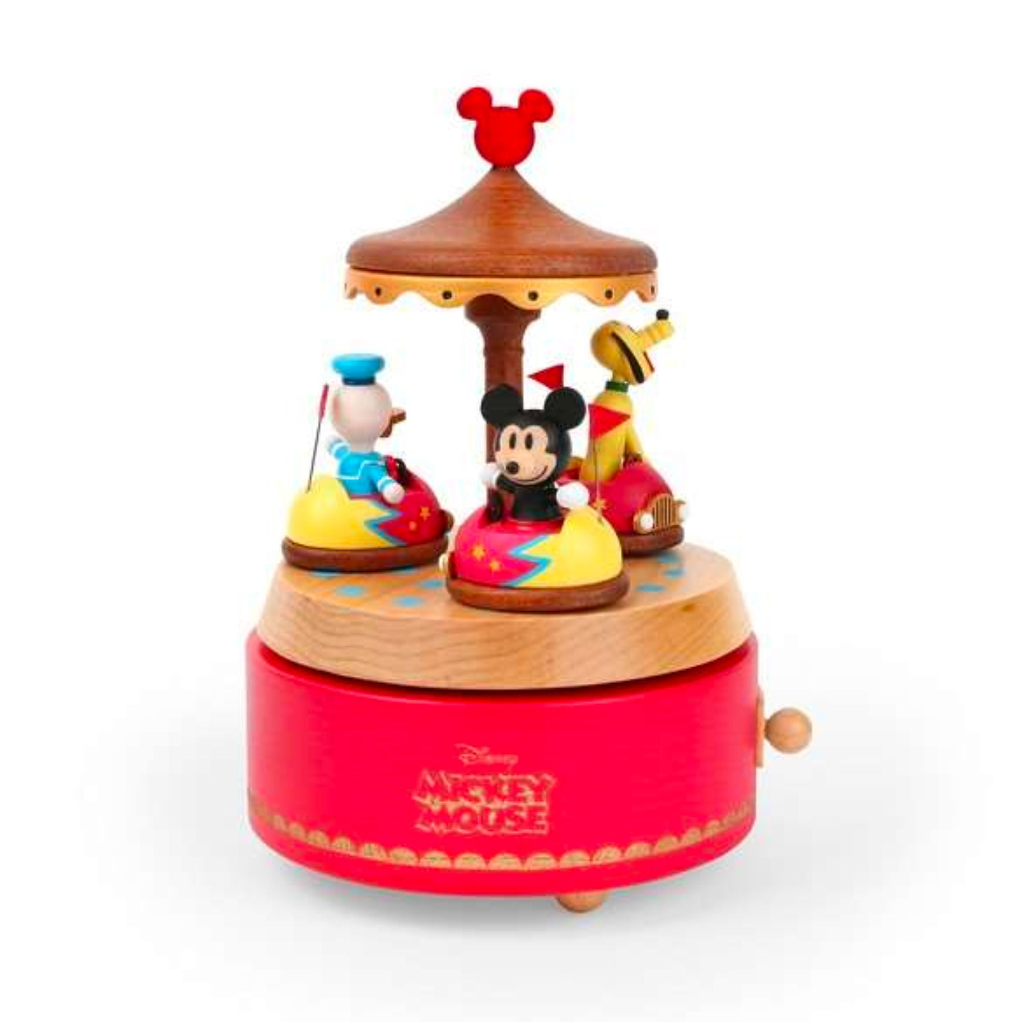 Wooderful Life wooden music box, Mickey bumper cars