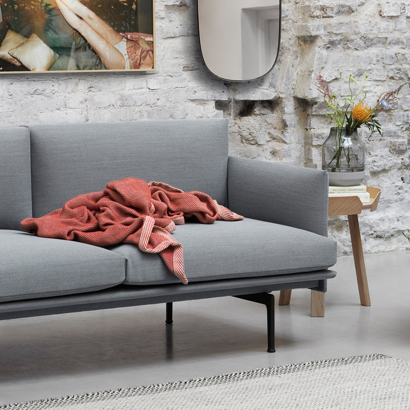 Muuto Outline Sofa 3-Seater Black Base , Fiord 151