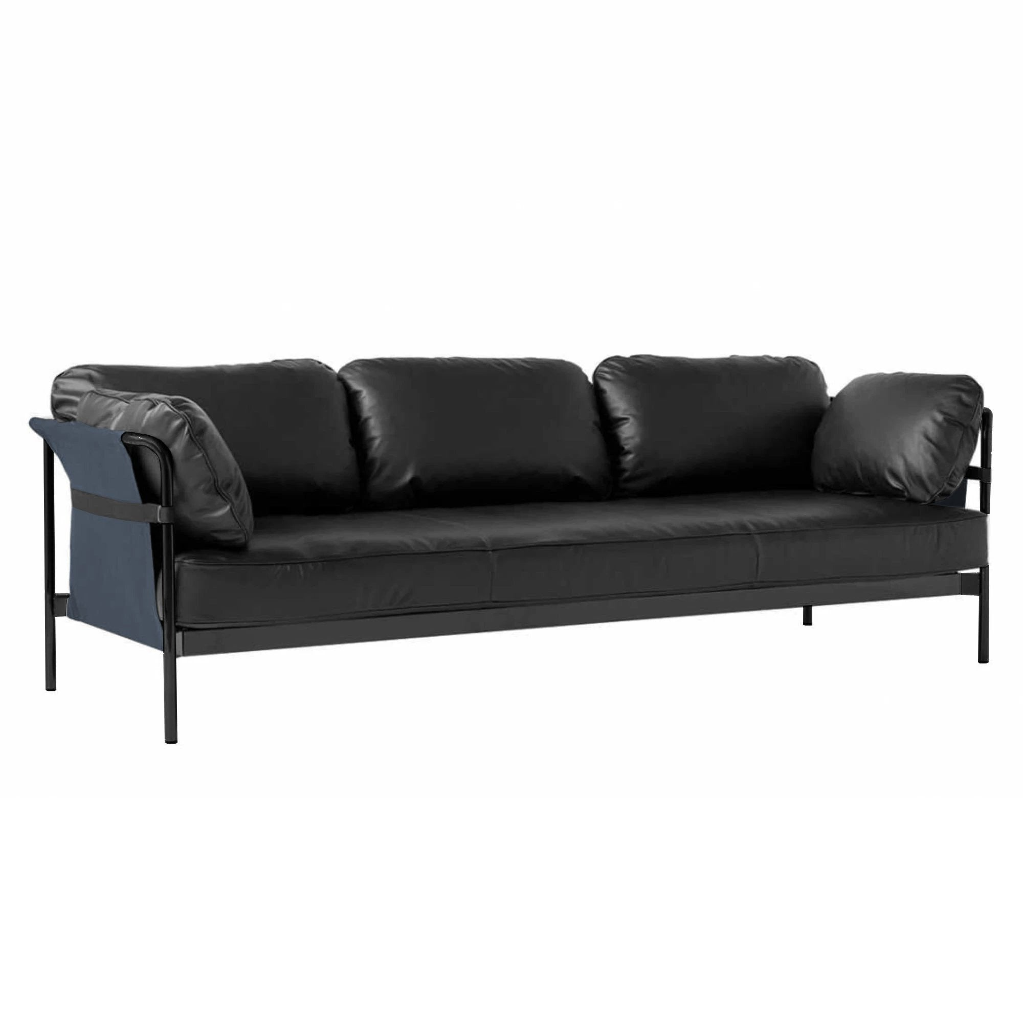 HAY Can 3-Seater Sofa 2.0 , Black-Navy-Silk0842