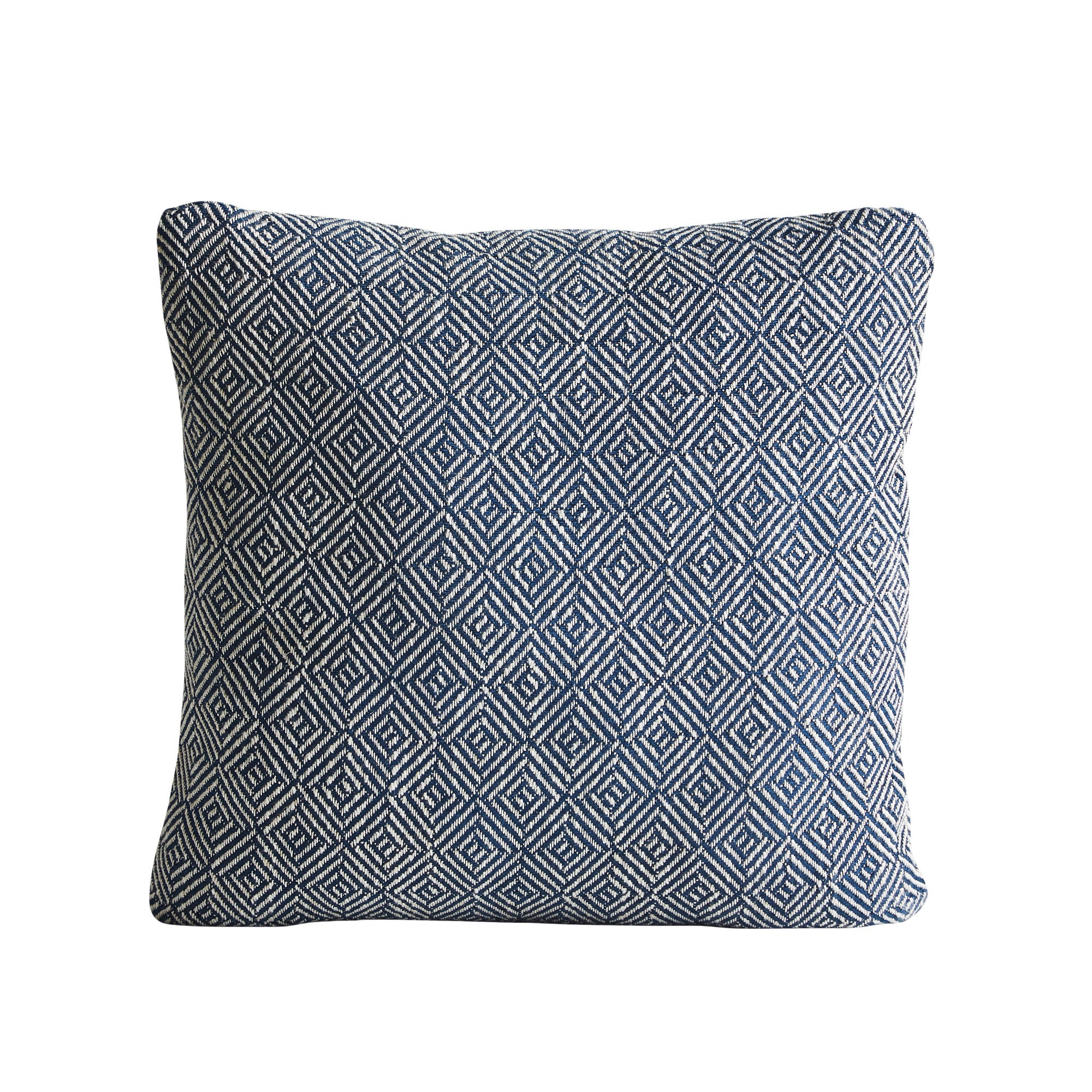 Woud Diamond Cushion , Navy Blue