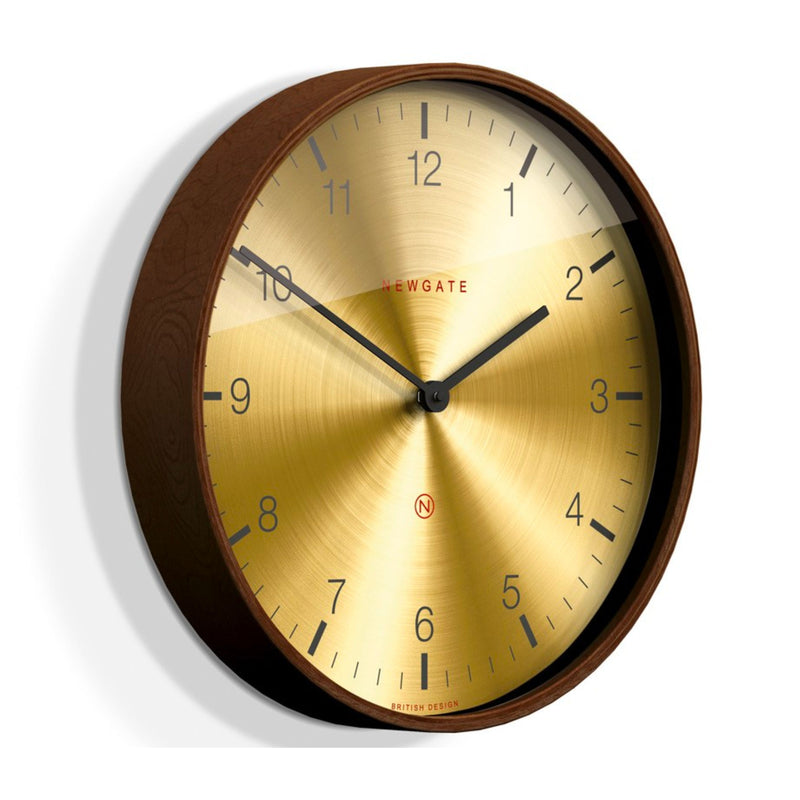 Newgate Mr Clarke Wall Clock , Brass