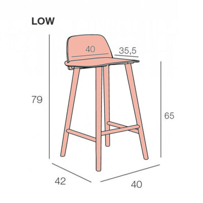 Muuto Nerd Bar Stool 65cm , Tan Rose