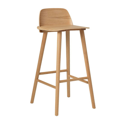 Muuto Nerd bar stool 75cm, oak