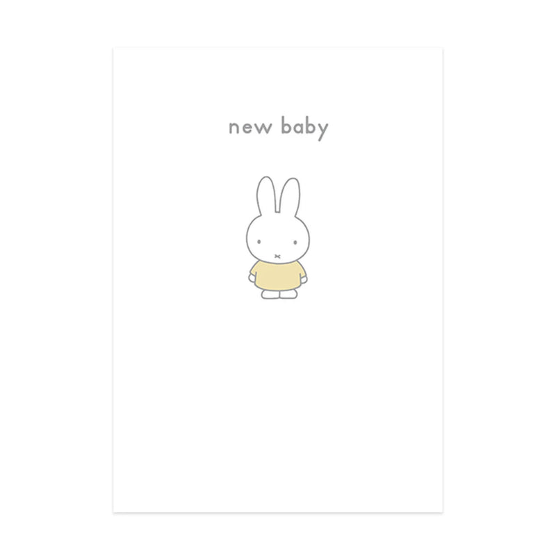 Hype Miffy message card, new baby