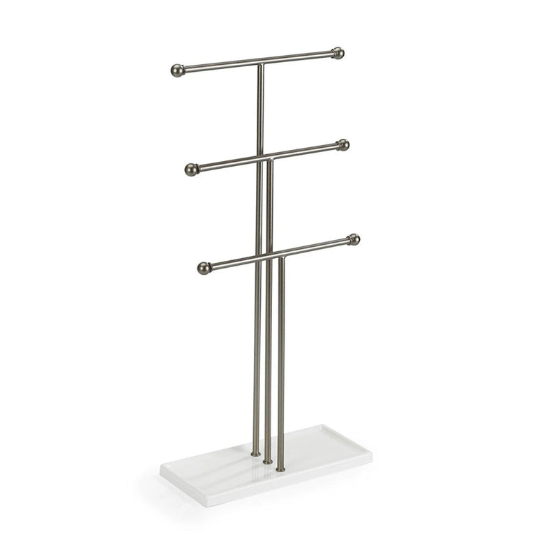Umbra Trigem Jewellery Stand , White/Nickel