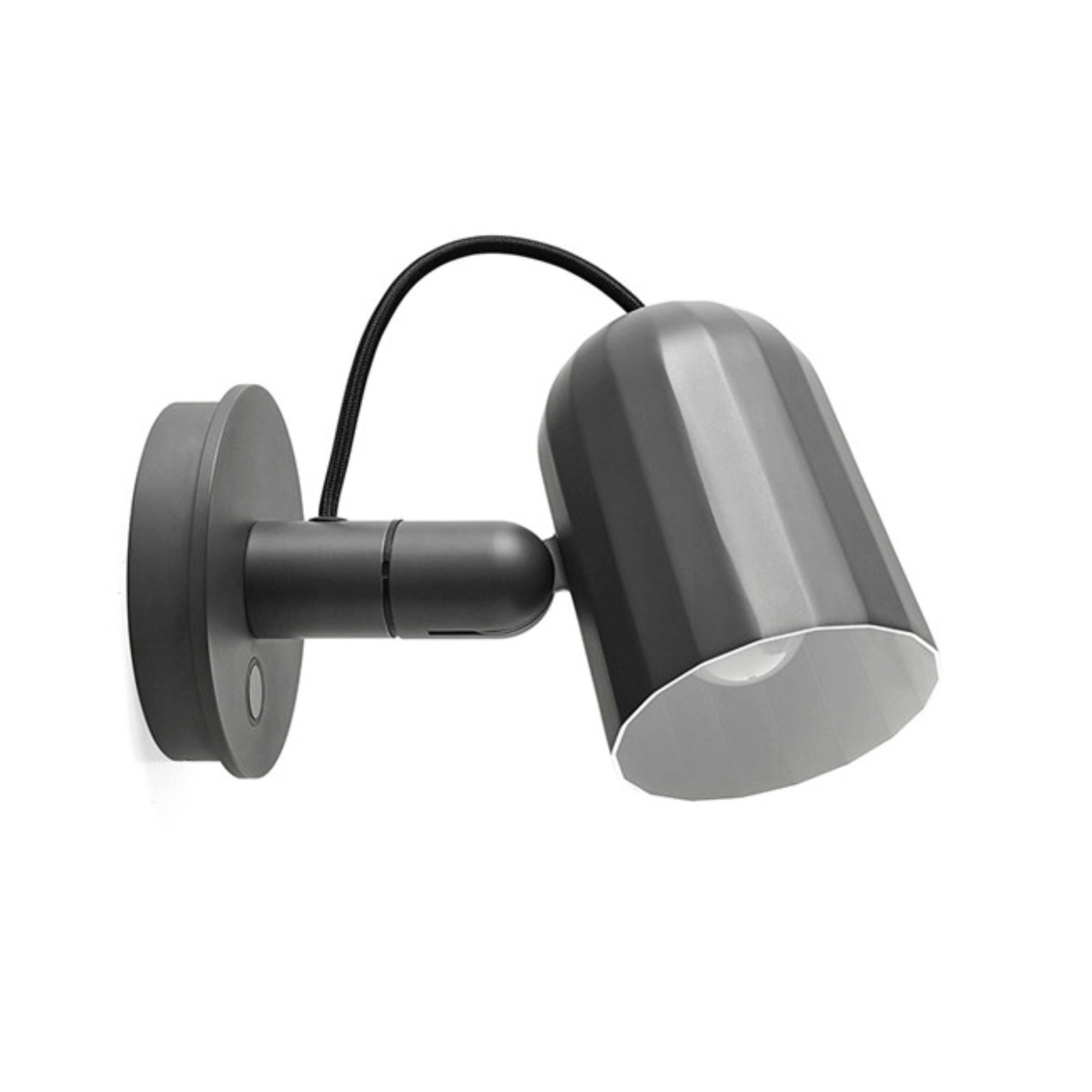 HAY NOC Wall Lamp w. Button , Dark Grey