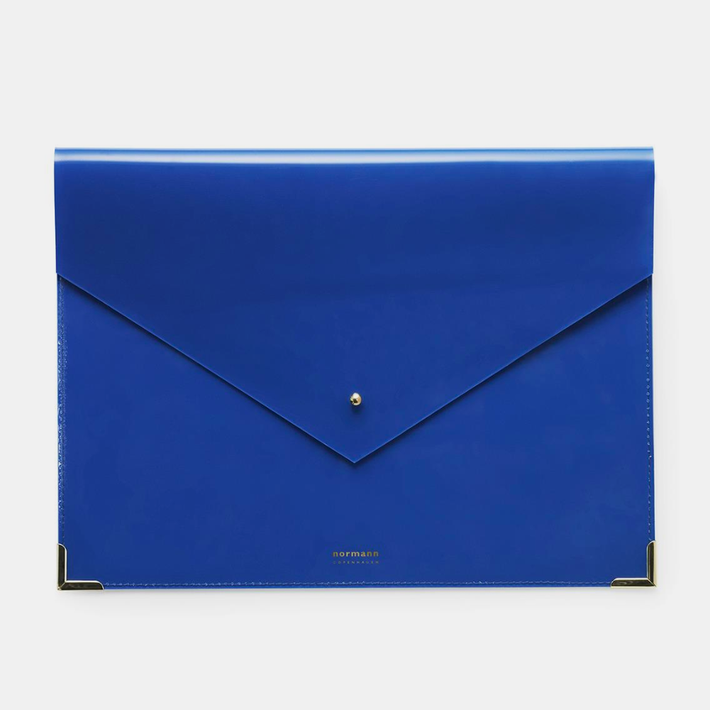 Normann Copenhagen Daily Fiction Envelope Folder, large, ink blue