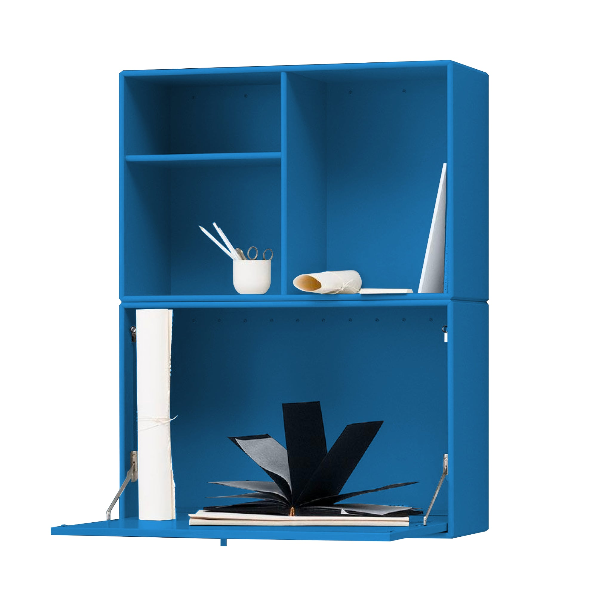 Montana Note Wall Storage Secretary Desk , Azure 154