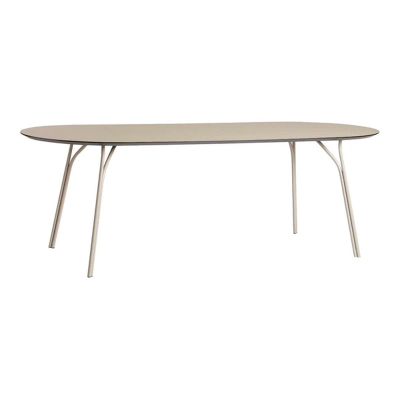 Woud Tree Dining Table 90x220cm , Beige Top-Beige Legs