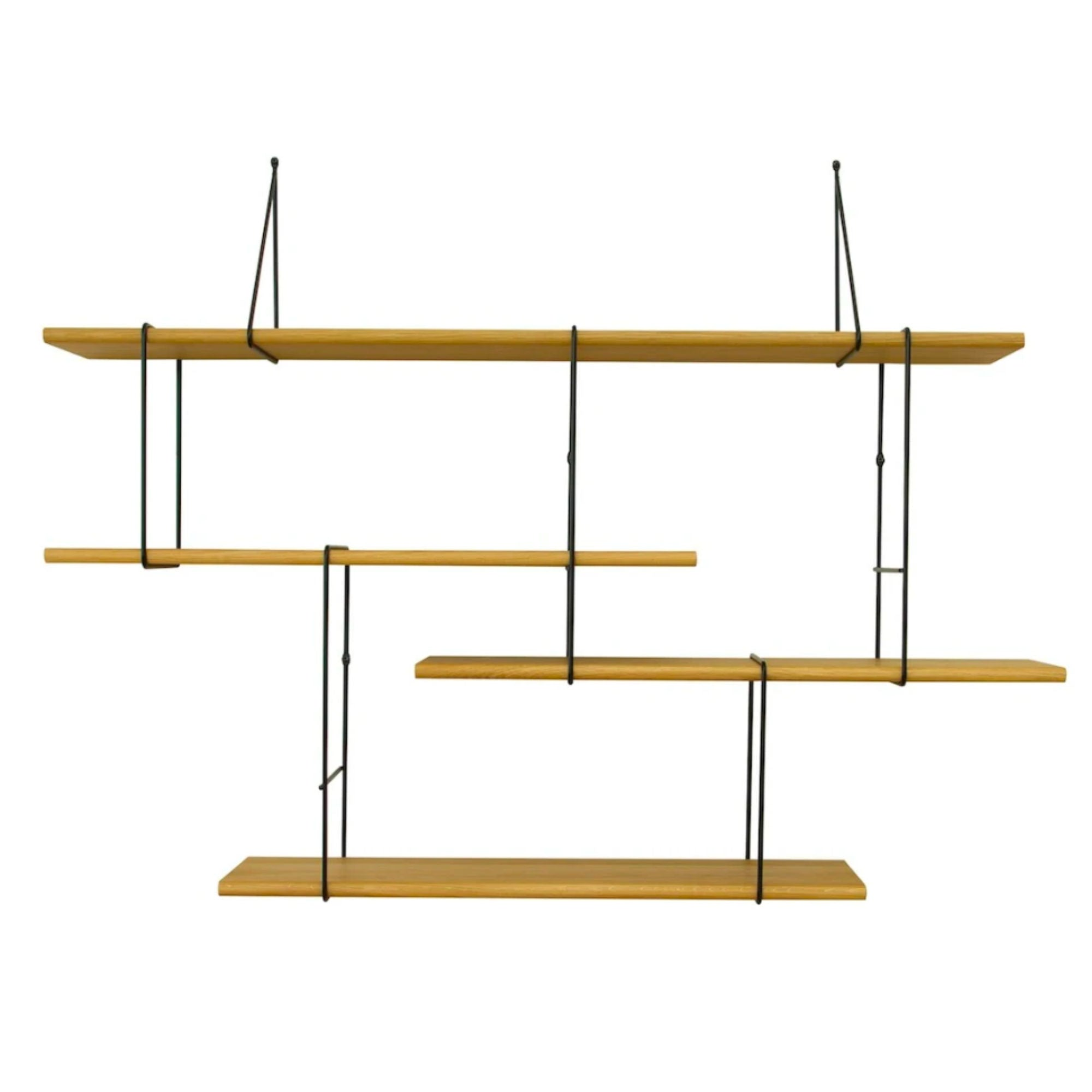Studio Hausen Link Shelf Setup1 , Oak-Black
