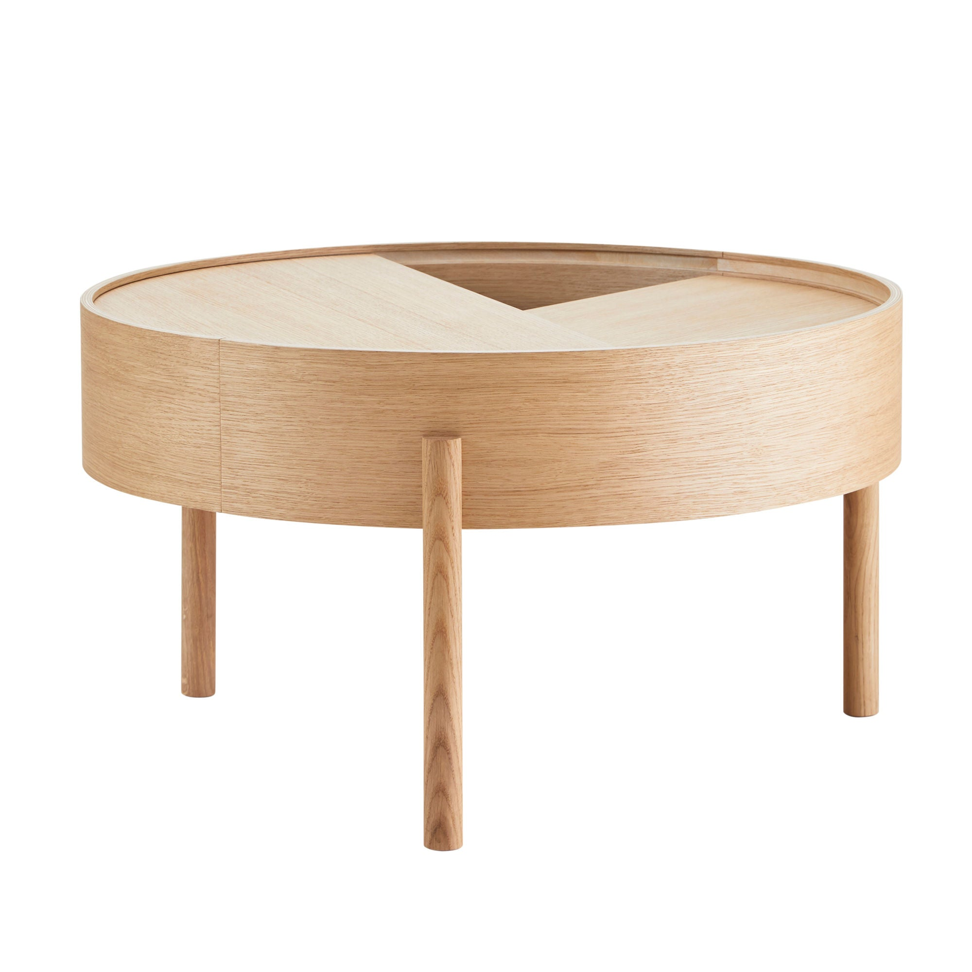 Woud Arc Coffee Table , Oiled Oak