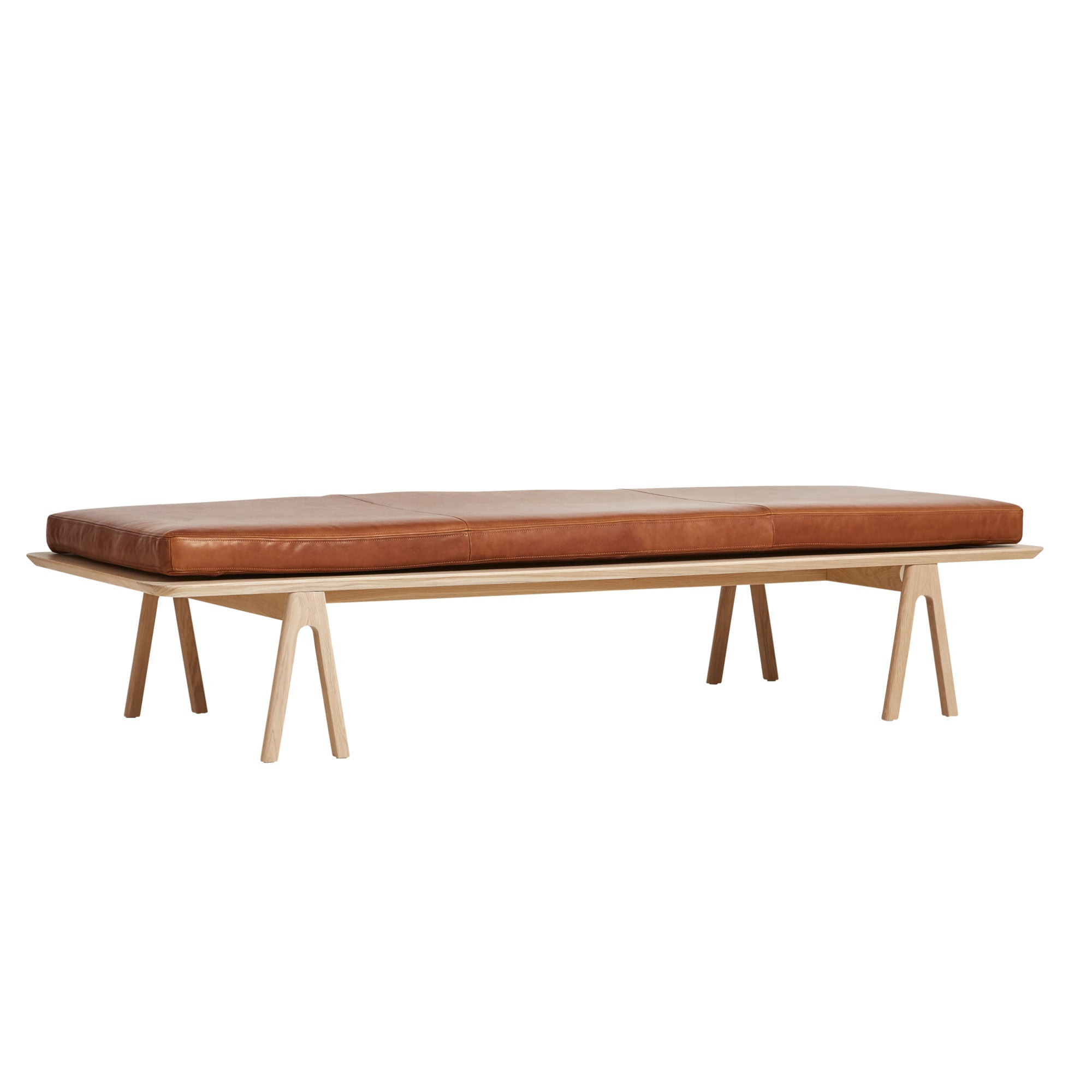 Woud Level Daybed , Oak-Nougat Leather