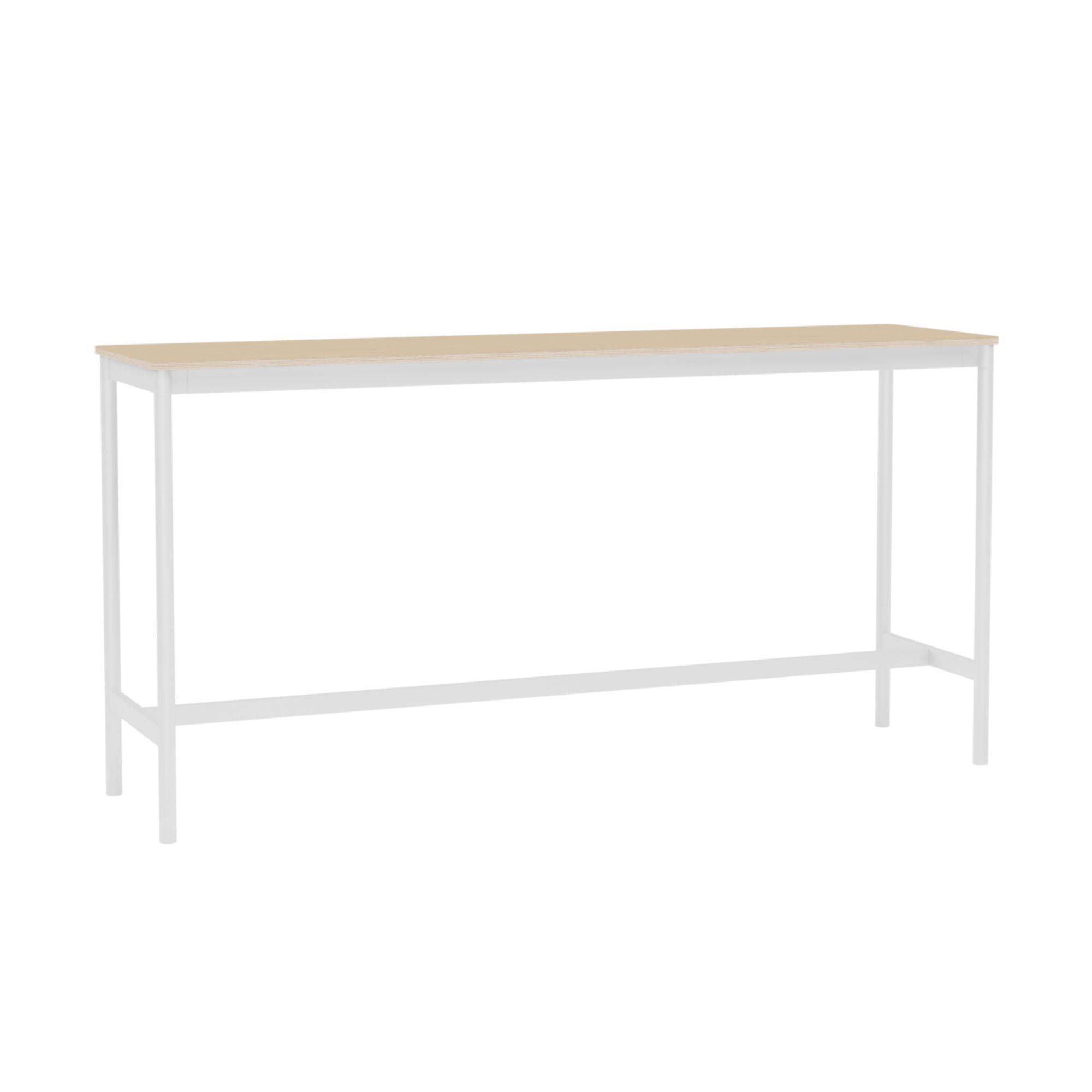 Muuto Base High Table 190x50 h:95cm , Lacquered Oak Veneer/Plywood/ White
