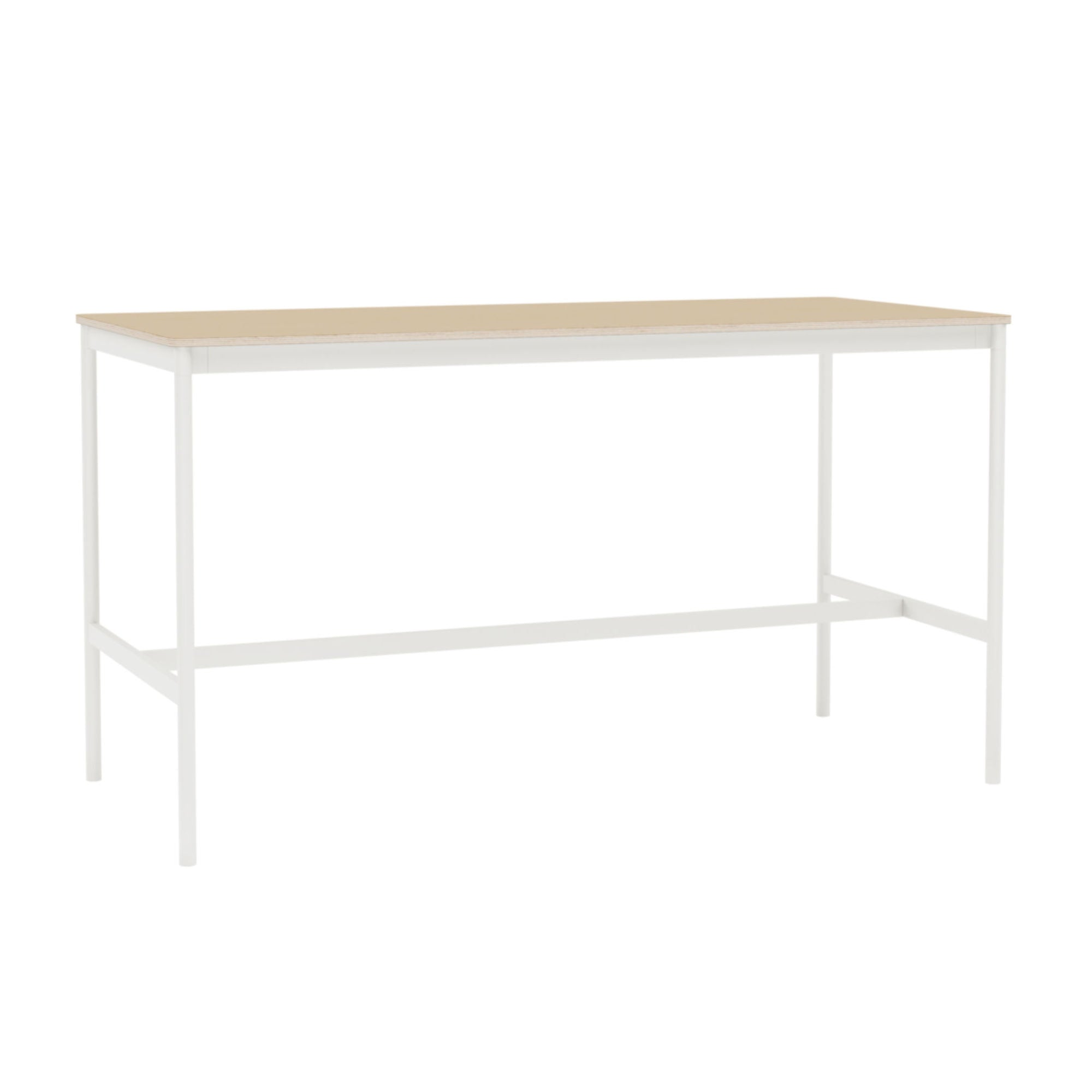 Muuto Base High Table 190x85 h:105cm , Lacquered Oak Veneer/Plywood/White