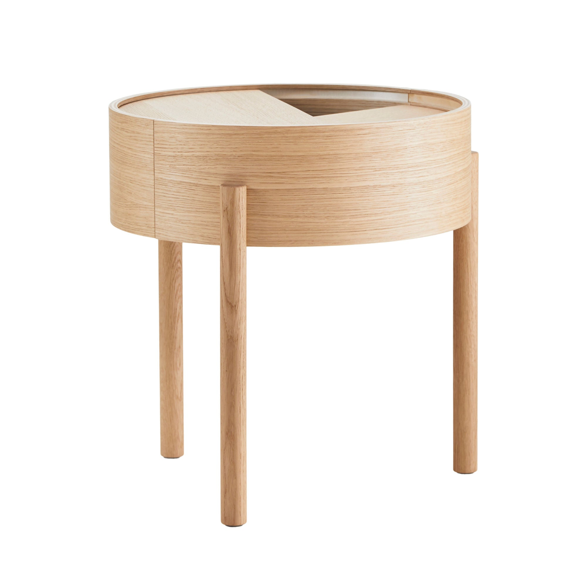 Woud Arc Side Table , Oiled Oak