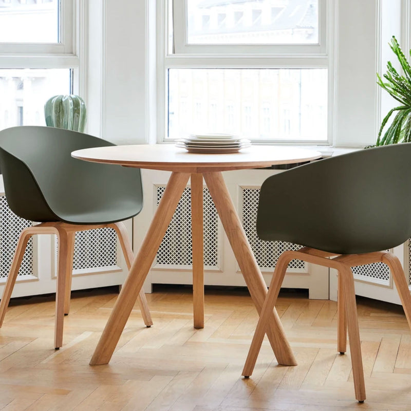 HAY CPH20 Round Table Ø90 , Clear Lacquered Oak