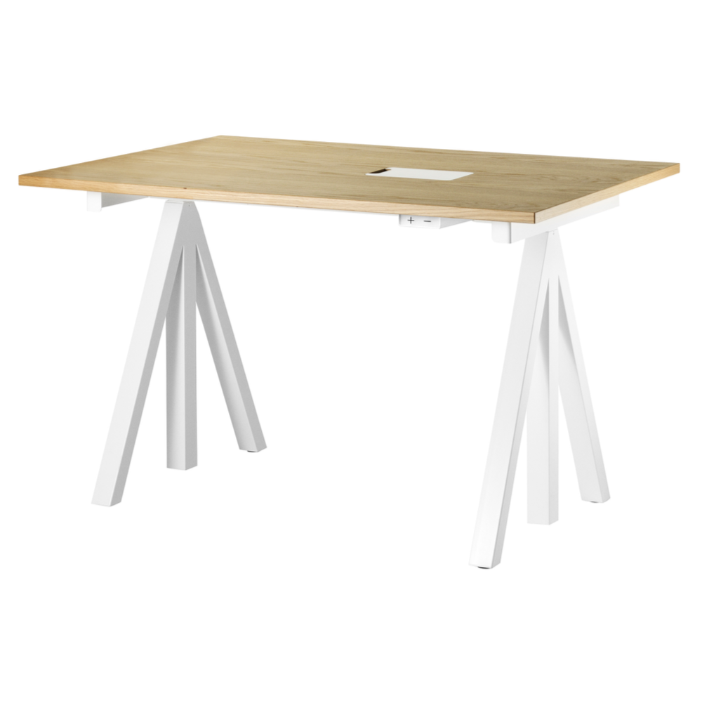 String Works Electrical Height-adjustable Work Desk W120xD78cm