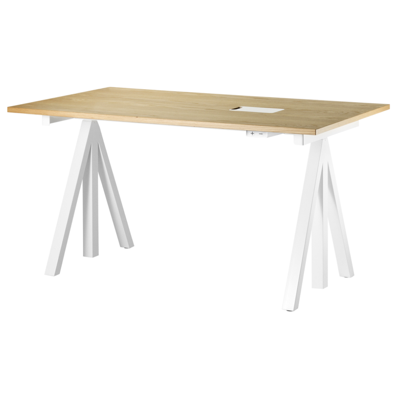String® Works Electrical Height-adjustable Work Desk W140xD78cm