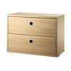 String 2-Drawers Chest 58x30cm