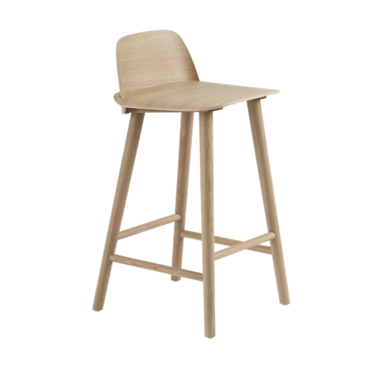 Muuto Nerd bar stool 65cm, oak