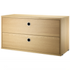 String 2-Drawers Chest 78x30cm