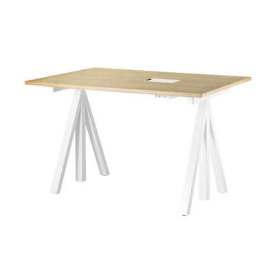 String Works™ Heigh-Adjustable Desk 120X78 , Oak