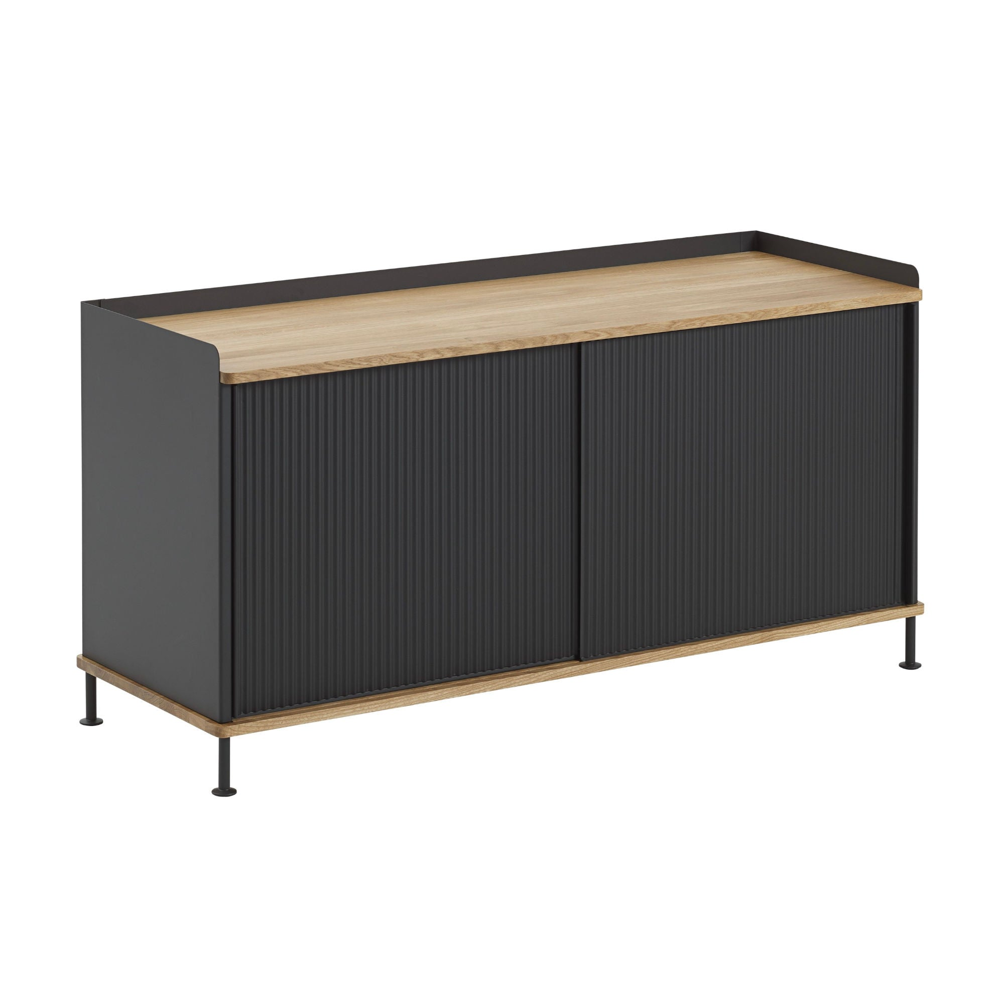 Muuto Enfold Sideboard Low , Oak/Black