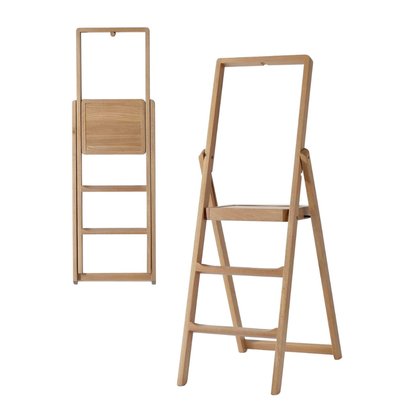 Design house Stockholm step ladder, 3 step, stained oak