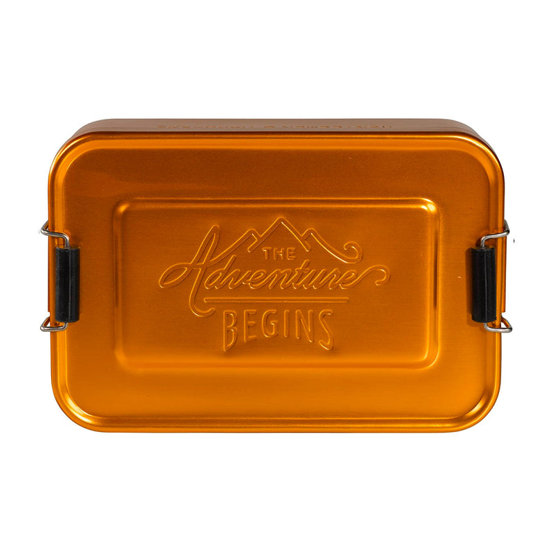 Gentlemen's Hardware Aluminium Lunch Tin , Gold
