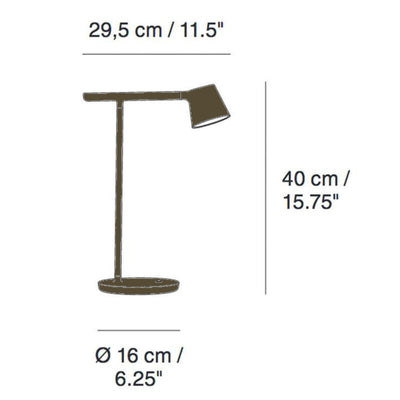 Muuto Tip Table Lamp , Olive