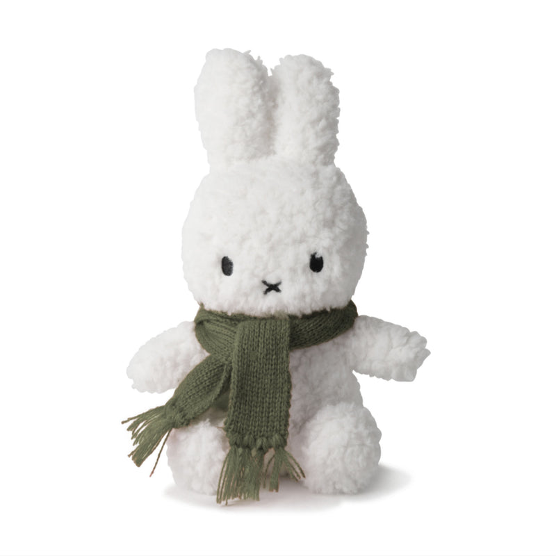 Miffy Popcorn w. Scarf Terry Plush 23cm , green