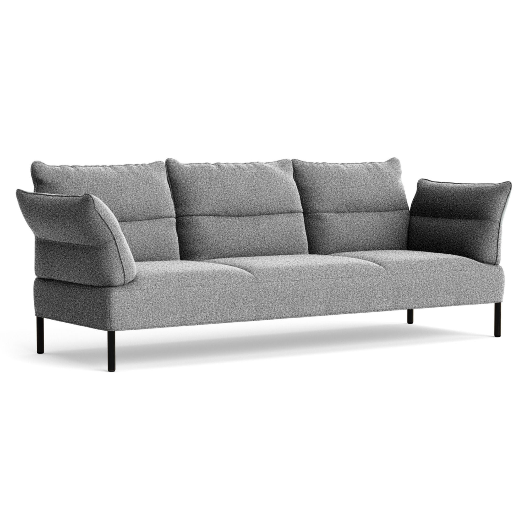 HAY Pandarine 3-Seater Sofa w. Reclining Armrest , Olavi 03/Black Stained Oak