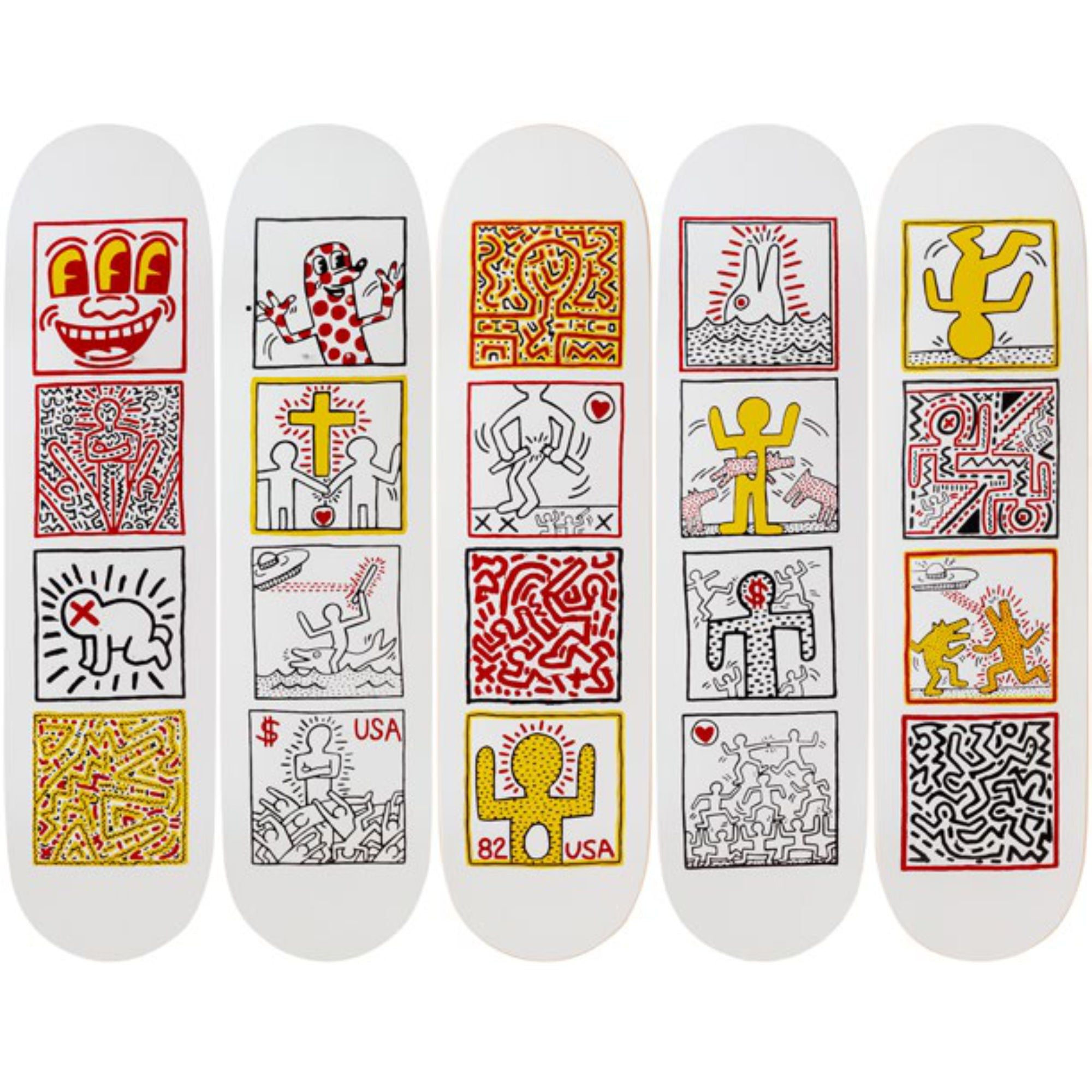 The Skateroom skateboard, Keith Haring One Man Show