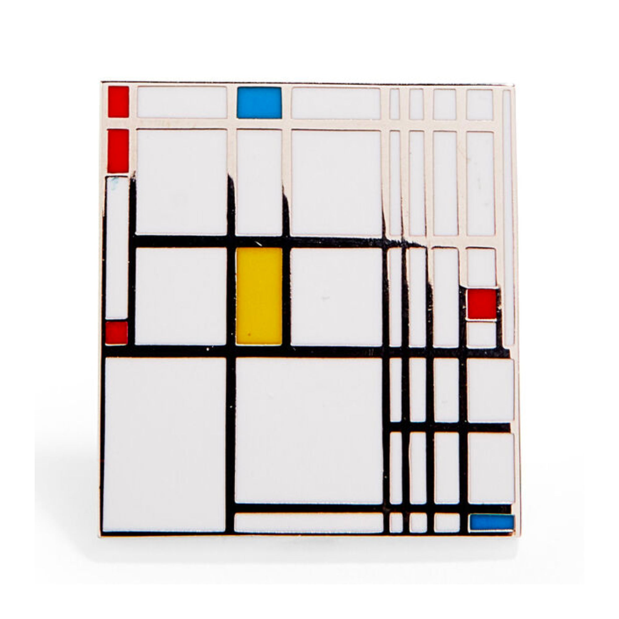 MoMA Piet Mondrian: Composition in Red, Blue, and Yellow Enamel Pin
