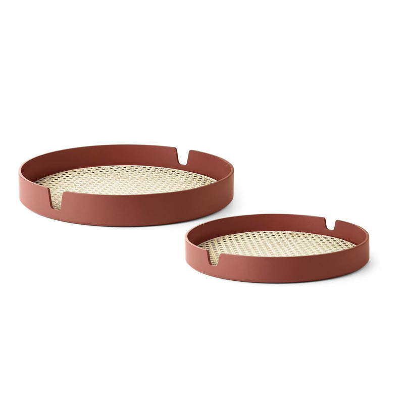 Normann Copenhagen Salon Tray Set of 2 , Rust