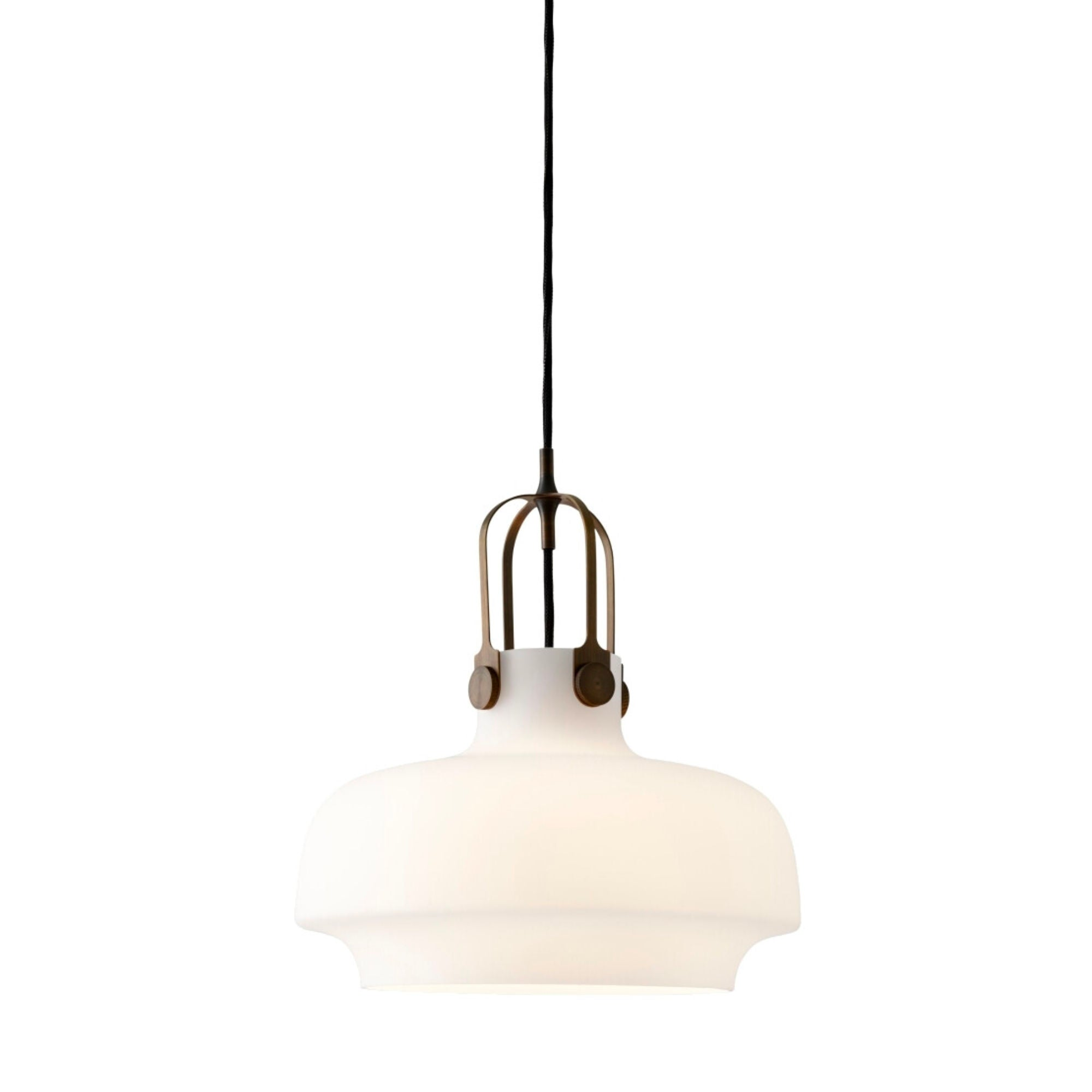 &Tradition SC6 Copenhagen pendant light, Opal Glass-Bronzed Brass