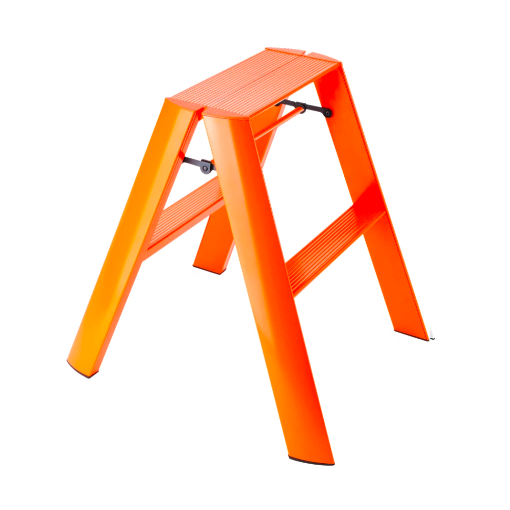 Metaphys Lucano step ladder, 2 steps, orange