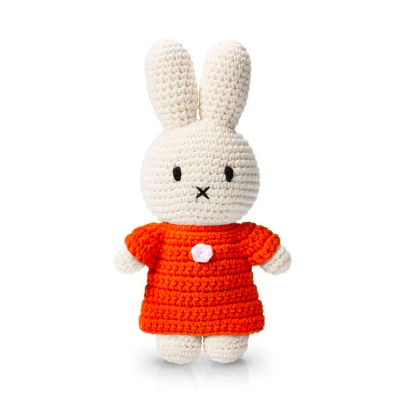 Just Dutch handmade doll, Miffy and her orange dress
