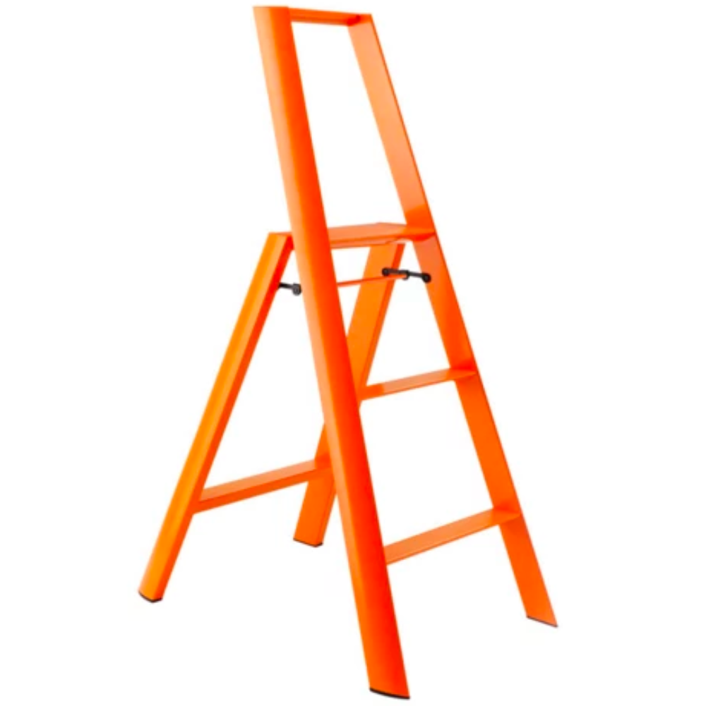 Metaphys Lucano Step Ladder 3 Step 122cm Orange