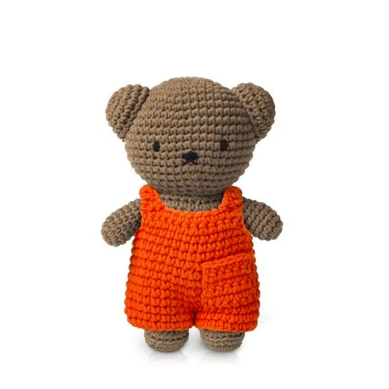 Just Dutch handmade doll, Boris and his orange overall