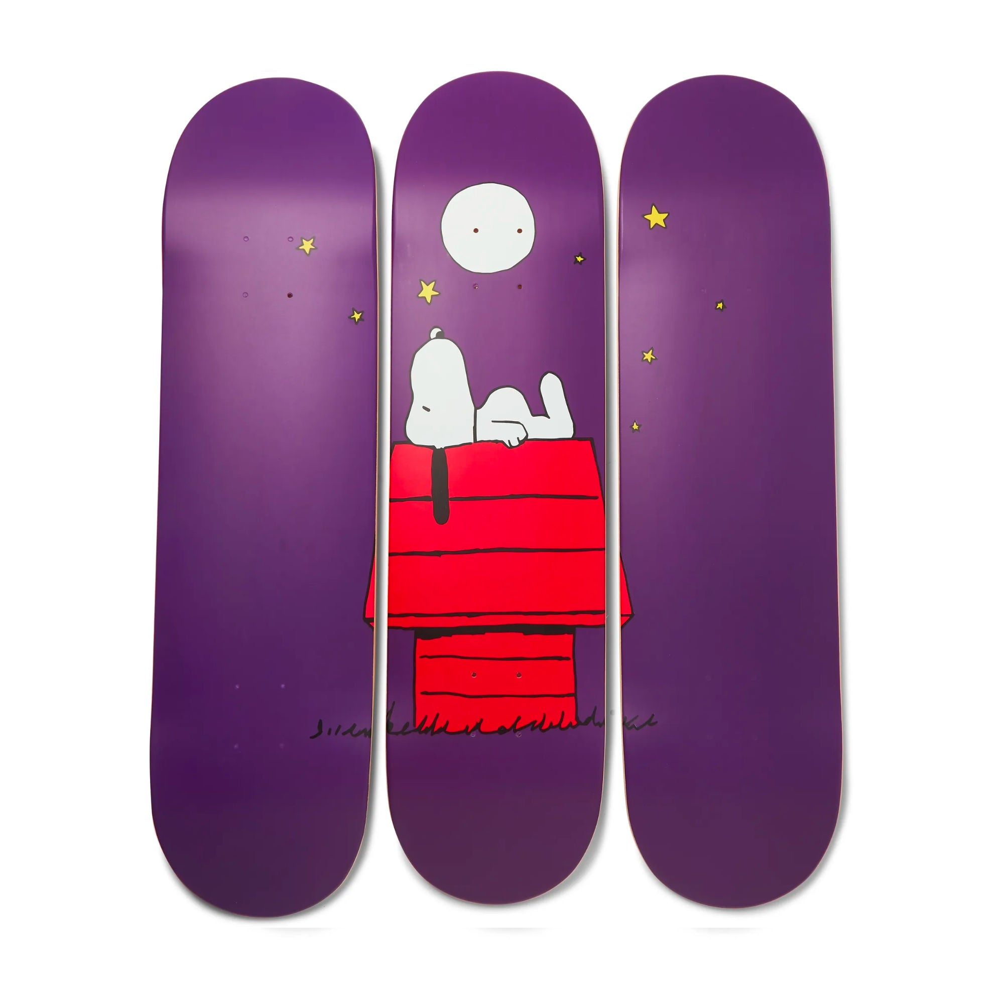 The Skateroom + Peanuts by Rob Pruitt Triptych Set-of-3