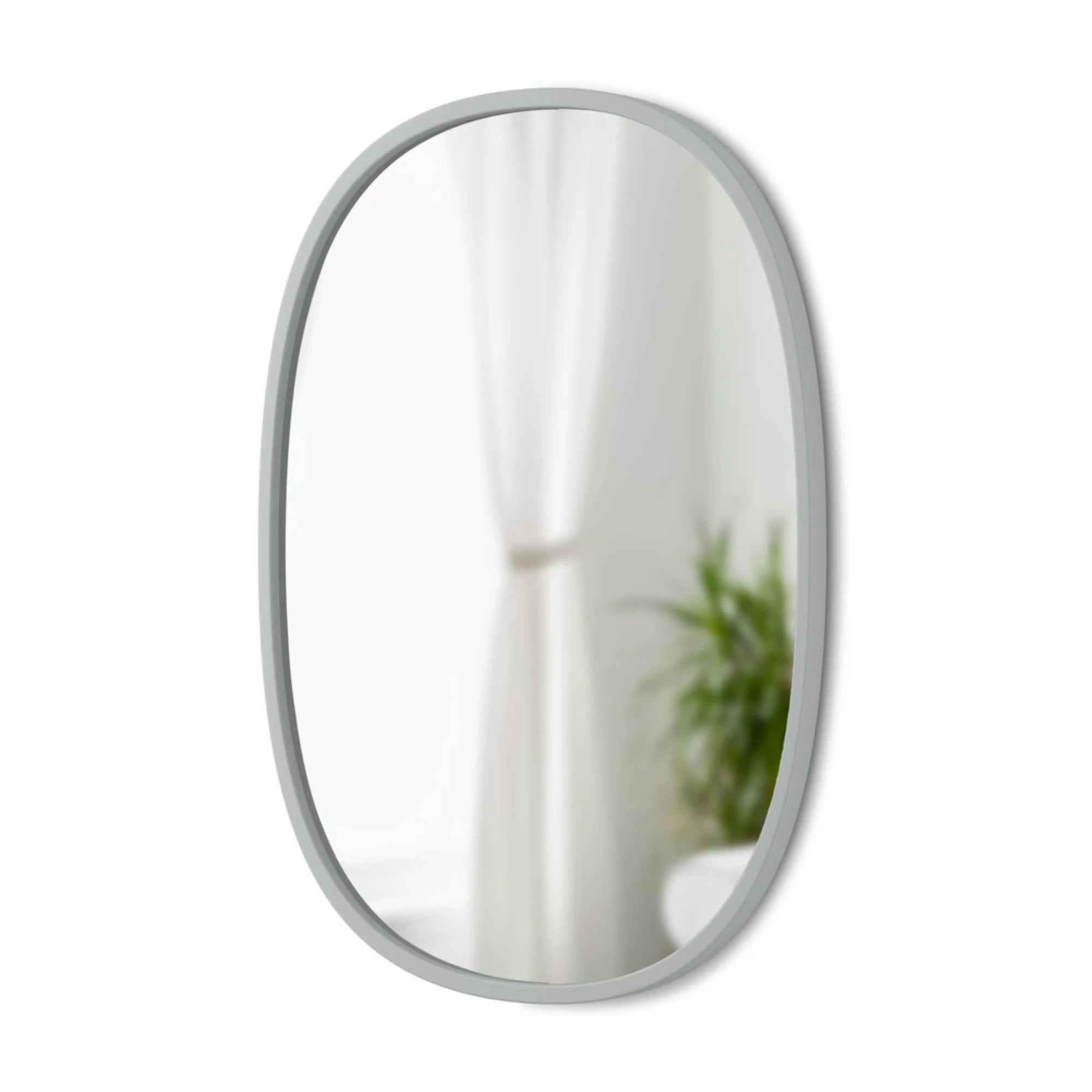 Umbra Hub Oval Mirror 61x91cm , Grey