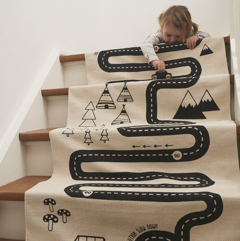 OYOY Adventure Rug 180 * 70cm, Off white