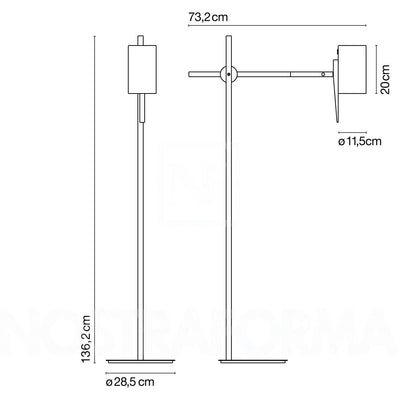 Marset Scantling P73 Floor Lamp