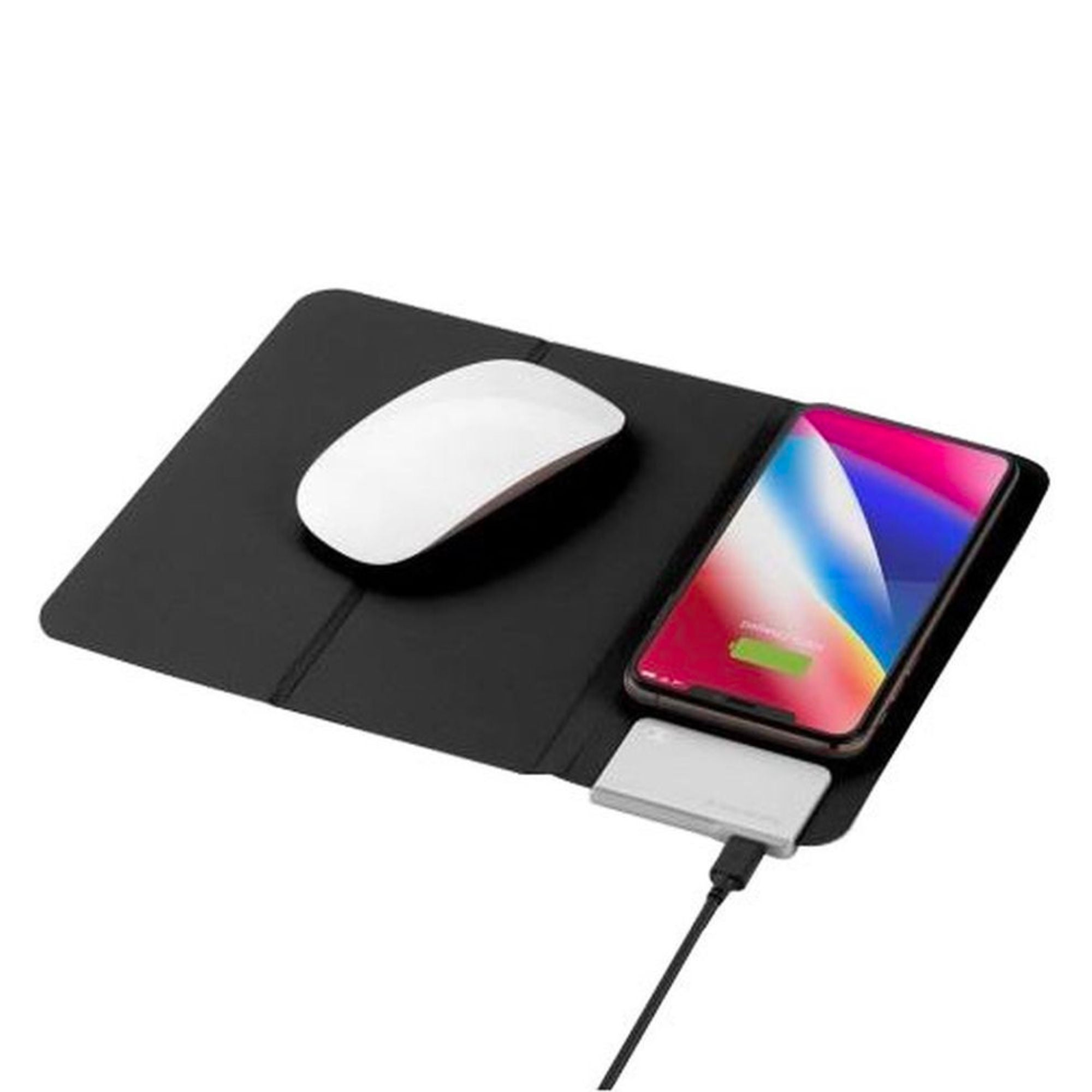 Q. Mouse Pad with built-in fast wireless charger, black