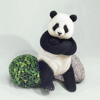Chic Sin Design Giant Panda Knit Cushion