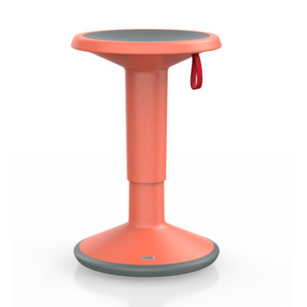 Upis1 Ergonomic Stool , Soft Red