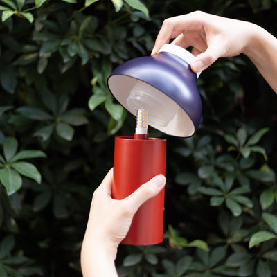Hay PC Portable lamp, dusty red (outdoor)