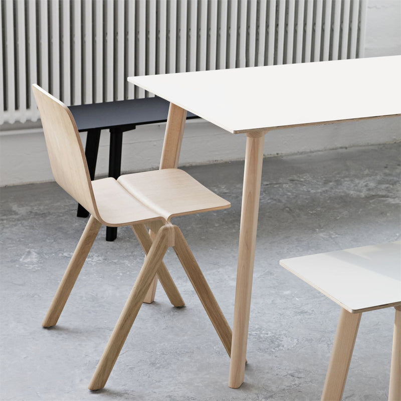 HAY CPH Deux 210 Table, Pearl White/Matt Lacquered Oak (140x75 cm)