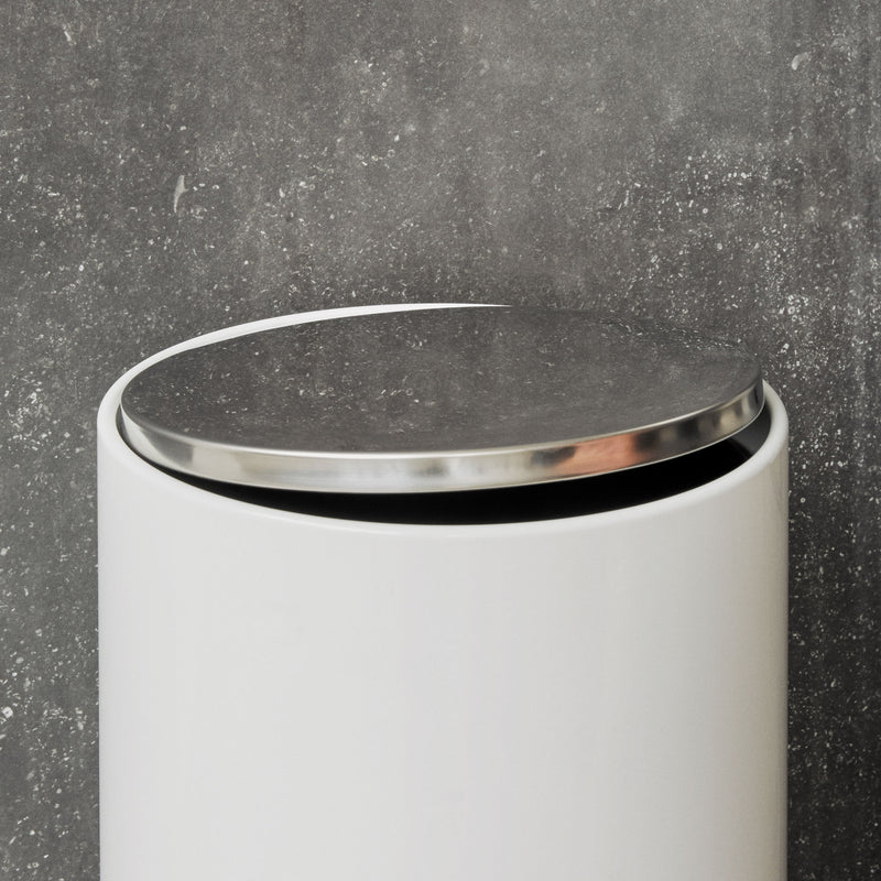 Menu Pedal Bin 7L , White Steel